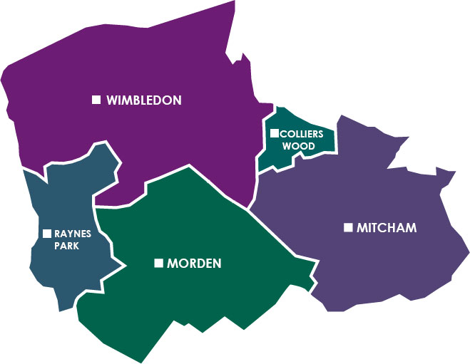 Merton Borough Map